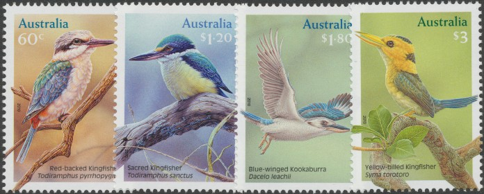 2010: SG3505-8 Australian Kingfishers set of 4