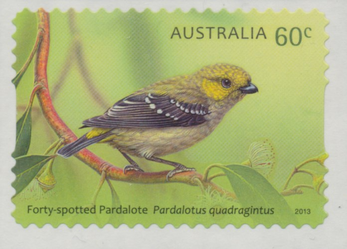 2013: Australian Birds - Pardalotes Self-adhesive from roll