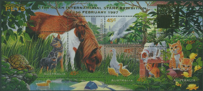 1996: SGMS1651 Australian Pets with Hong Kong 97 overprint