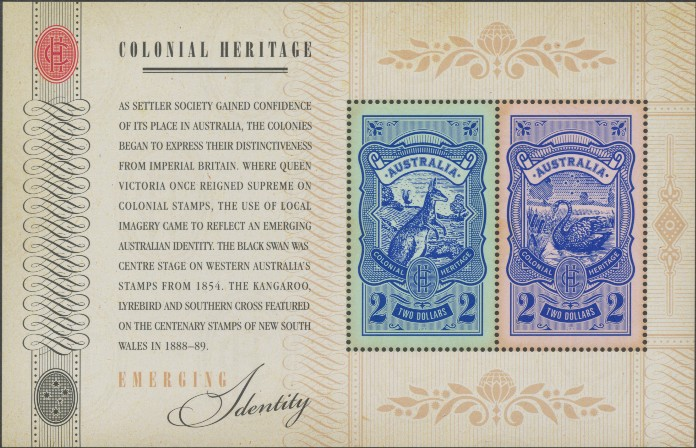 2011: SG MS3634 Colonial Heritage: Emerging Identity miniature sheet