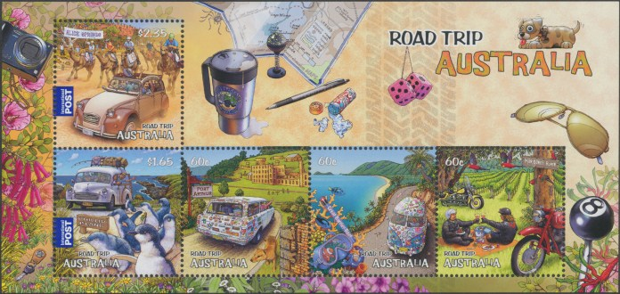 2012: Road Trip Australia (1st Series) Miniature Sheet