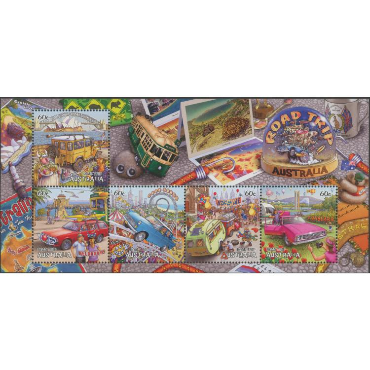 2013: Road Trip Australia (2nd Series) Miniature Sheet