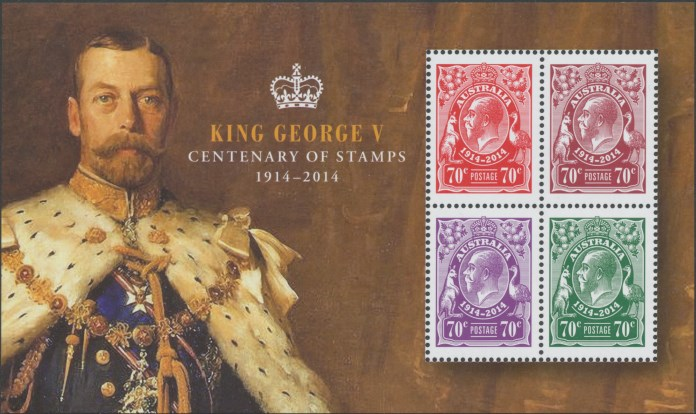 2014: 100th Anniversary King George V Stamps Miniature Sheet
