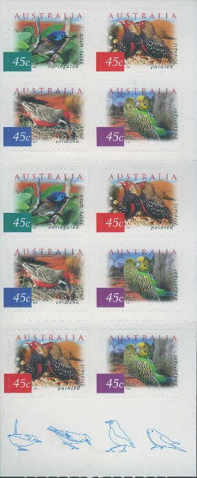 2001: SG2130b Fauna and Flora (4th series): Desert Birds booklet of 10