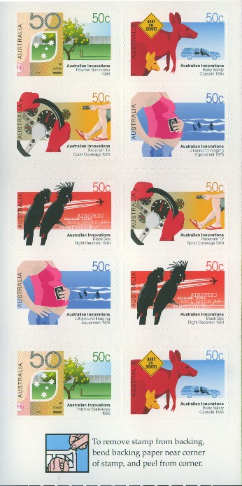 2004: SG2386a Australian Innovations self-adhesive booklet pane