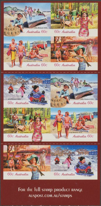 2010: SG3487b Through the Years: Long Weekend self-adhesive booklet pane
