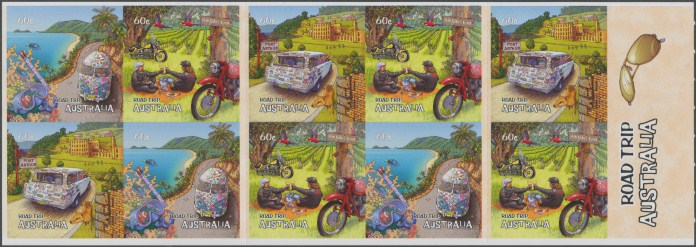 2012: Road Trip Australia (1st Series) Self-adhesive booklet pane