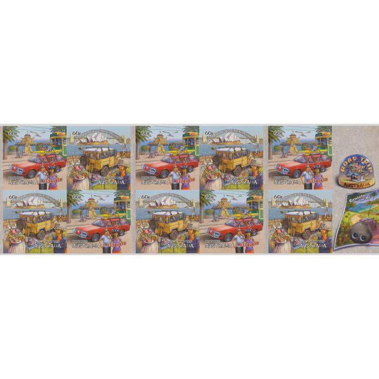 2013: Road Trip Australia (2nd Series) Self-adhesive booklet pane of 10