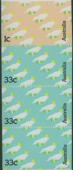 1985: SG SB54 $1 Cockatoos Booklet containing SG970a