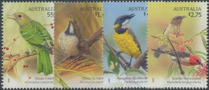 2009: SG3270-3 Australian Songbirds set of 4