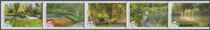 2009: SG3224a Australian Parks & Gardens strip of 5