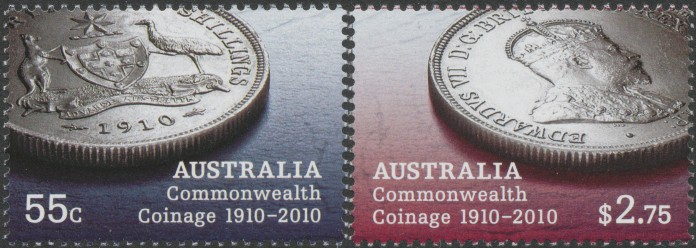 2010: SG3350-1 Australian Commonwealth Coinage 1910-2010 set of 2