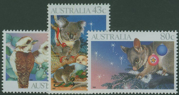 1990: SG1272-4 Christmas set of 3
