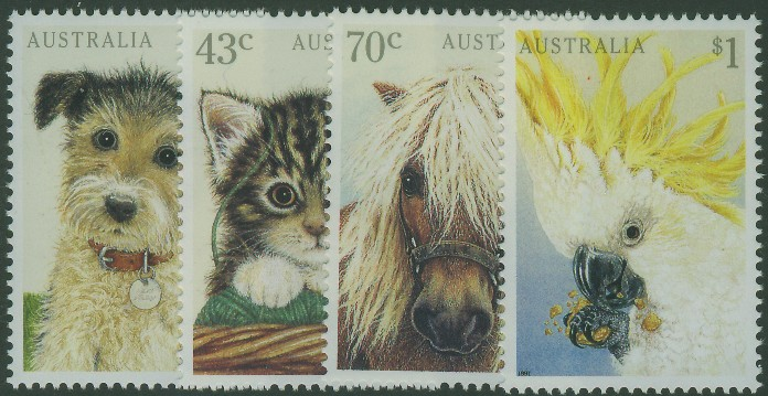 1991: SG1299-302 Domestic Pets set of 4