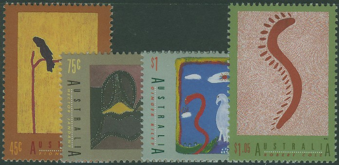 1993: SG1417-20 International Year of Indigenous Peoples, Aboriginal Art, set of 4