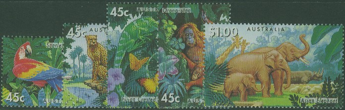 1994: SG1479-83 Australian Zoos, Endangered Species set of 5