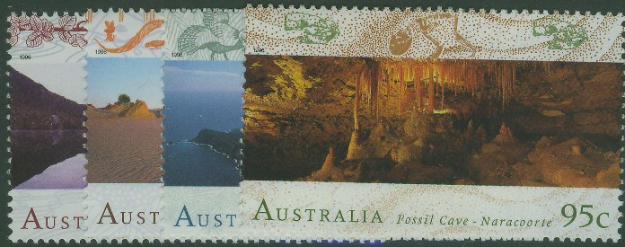 1996: SG1582-5 World Heritage Sites (2nd series) set of 4