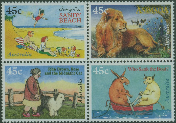 1996: SG1630a 50th Anniversary of Childrens book Council Awards block of 4