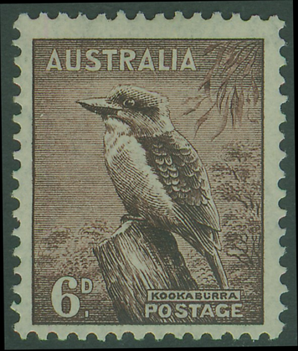 SG172 6d Purple-Brown Kookaburra