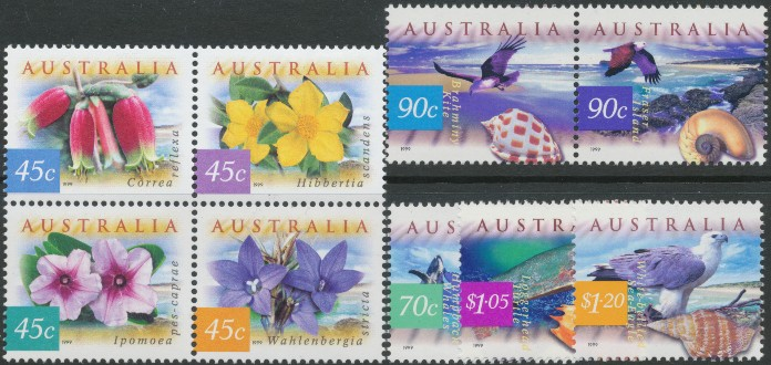 1999: SG1854a-62 Fauna and Flora (3rd series): Coastal Environment set of 9