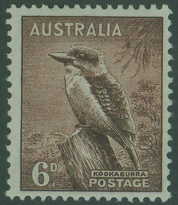 SG190 6d Red-Brown Kookaburra