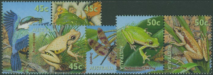 1999: SG1907-12 National Stamp Collecting Month: Small Pond Life set of 6