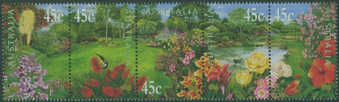 2000: SG1960a Gardens strip of 5