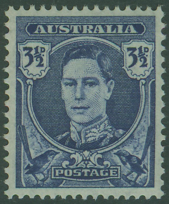 SG207 3½d Bright Blue King George VI