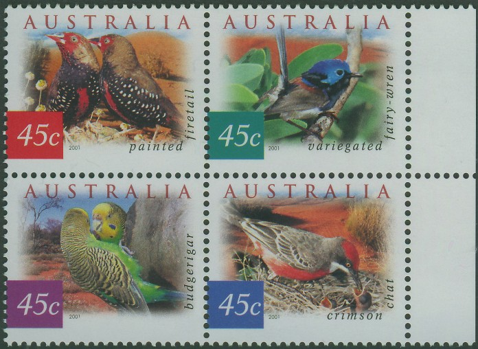 2001: SG2126a Fauna and Flora (4th series): Desert Birds block