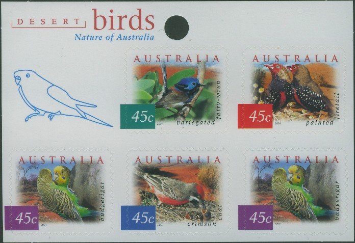 2001: SG2130a Fauna and Flora (4th series): Desert Birds sheetlet