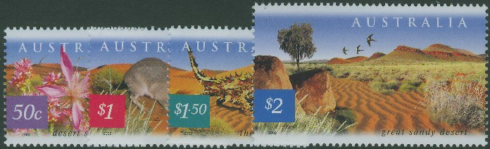 2002: SG2200-3 Fauna and Flora (5th series): Great Sandy Desert set of 4