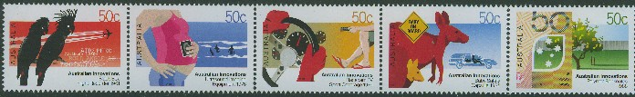 2004: SG2381a Australian Innovations strip of 5