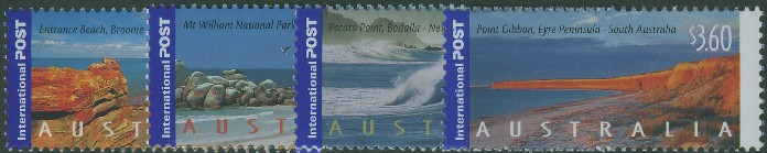 2004: SG2423-6 International Stamps: Coastlines set of 4