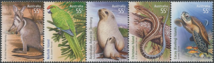 2009: SG3247a Species at Risk - Joint Territories Issue Strip of 5