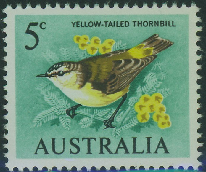 SG386b 5c Thornbill Bird (blue green)