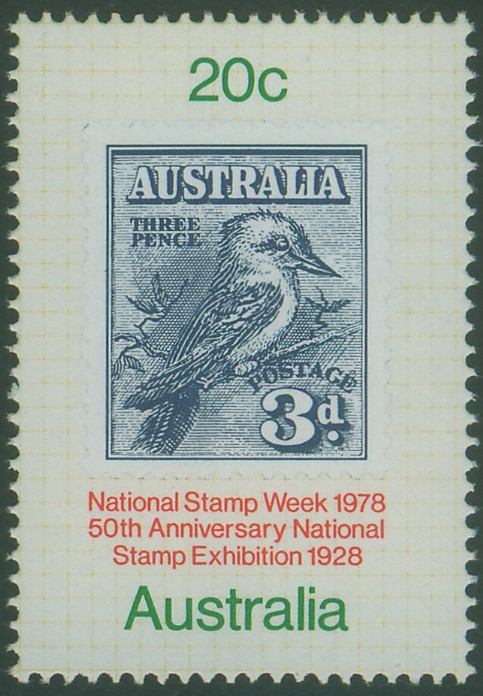 1978: SG694 20c National Stamp Week, 50th Anniversary of National Stamp Exhibition, Melbourne