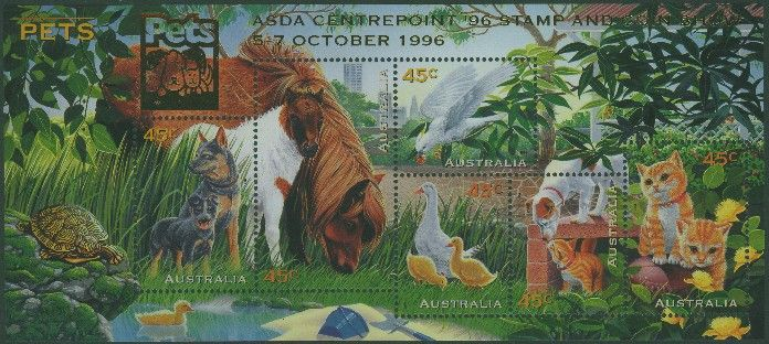 1996: SGMS1651 Australian Pets with ASDA 96 overprint