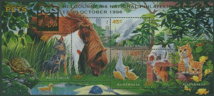 1996: SGMS1651 Australian Pets with Melbourne 96 overprint