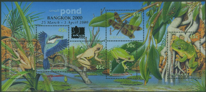 2000: SGMS1913 National Stamp Collecting Month: Small Pond Life miniature sheet Bangkok 2000