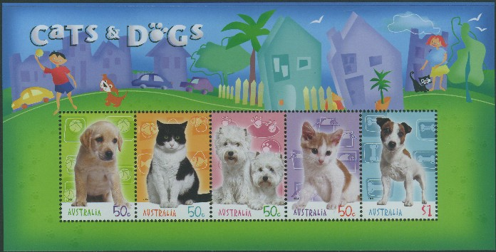 Cats And Dogs Australian Stamp Issues