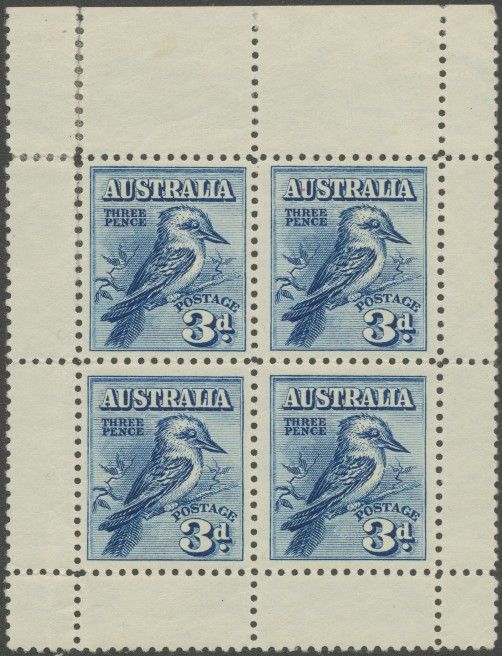 SG106a 1928 3d Fourth National Stamp Exhibition, Kookaburra miniature sheet