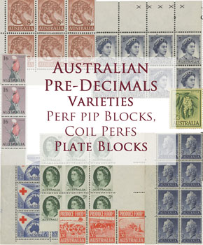 Australian Pre-Decimal Stamp Varieties & Blocks