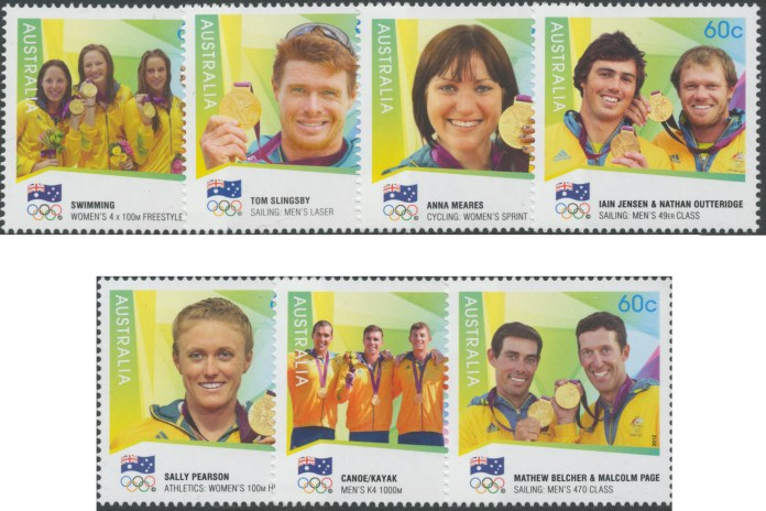 2012 $1 London Olympic Games Australian gold medallists canoe//kayak 1000m