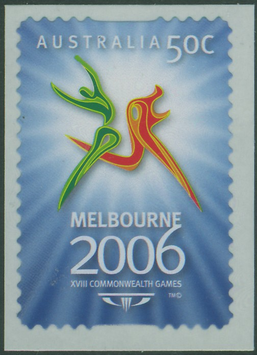 AUS SG2576 50c Commonwealth Games Melbourne 1st issue self-adhesive