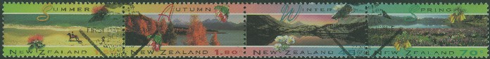 NZ SG1793a Four Seasons strip of 4