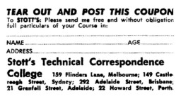 ASCS Advert No.25a