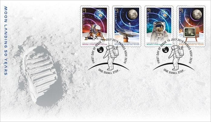 16/07/2019 Australia FDC Moon Landing: 50 Years self-adhesive set of 4 from roll