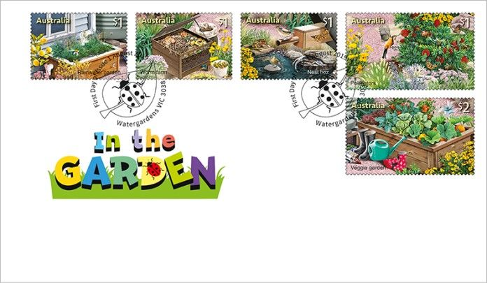 01/08/2019 Australia FDC Stamp Collecting Month 2019: In the Garden set of 5