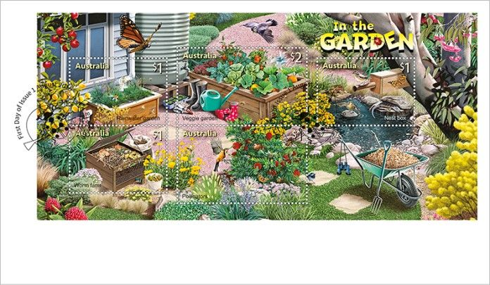 01/08/2019 Australia FDC Stamp Collecting Month 2019: In the Garden miniature sheet