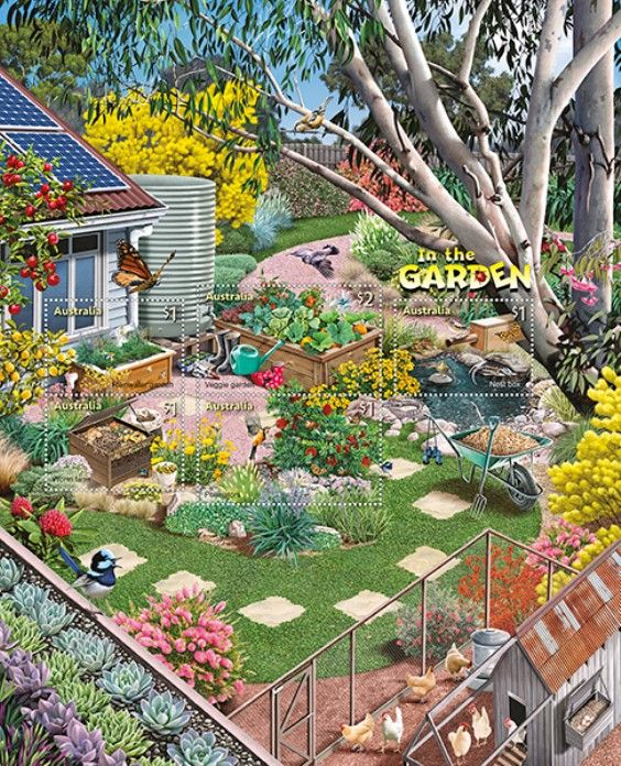 AUS 01/08/2019 Stamp Collecting Month 2019: In the Garden miniature sheet